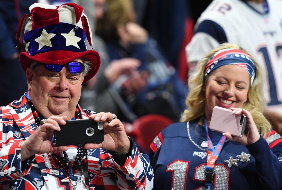 Aficionados de los Patriots, en Atlanta