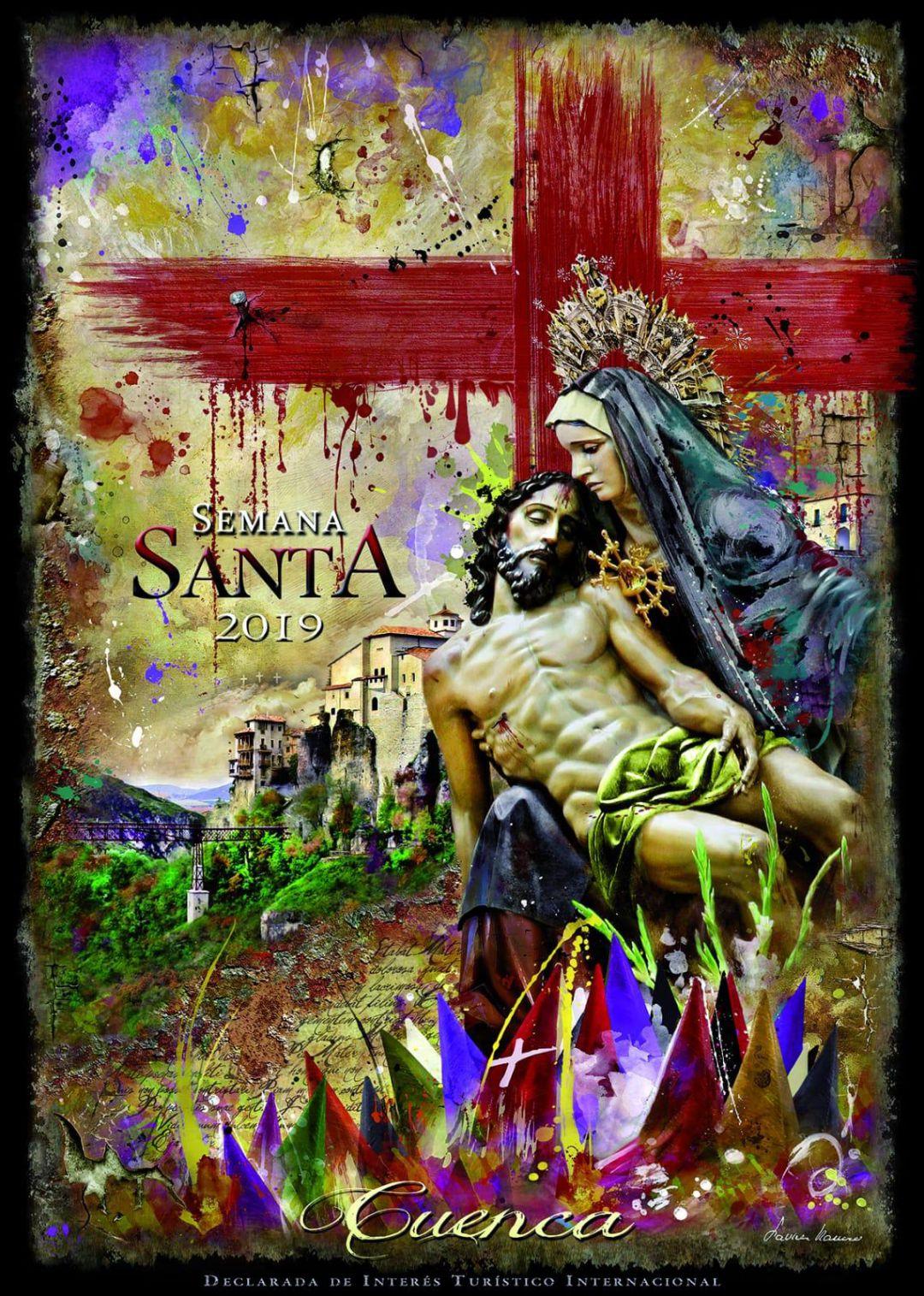 La Virgen de las Angustias, protagonista del cartel de la Semana Santa 2019