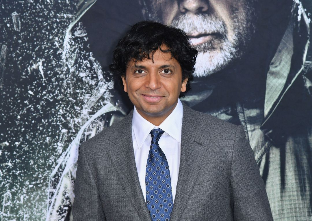 "El director M. Night Shyamalan a l'estrena de ""Glass"" a Nova York."