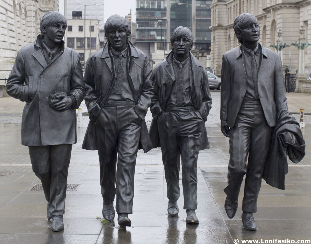 En Liverpool existen muchas referencias a The Beatles