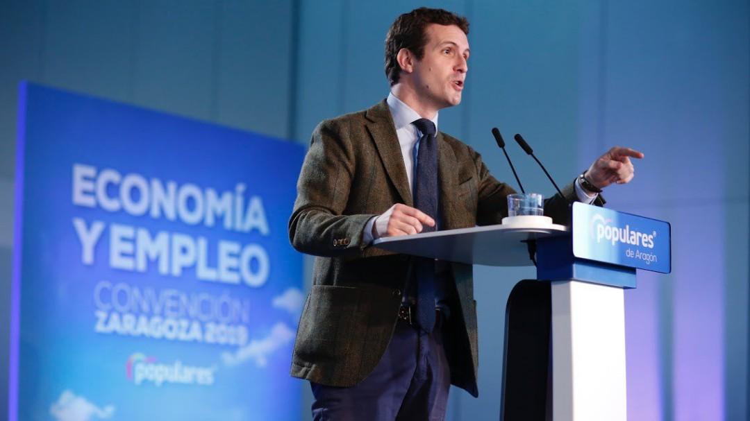 """Casado: """"Hemos detenido la venta de España a los independentistas"""""""