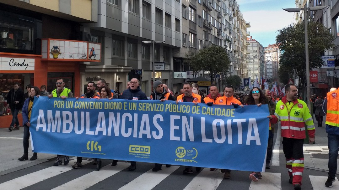 Sigue adelante la huelga de ambulancias