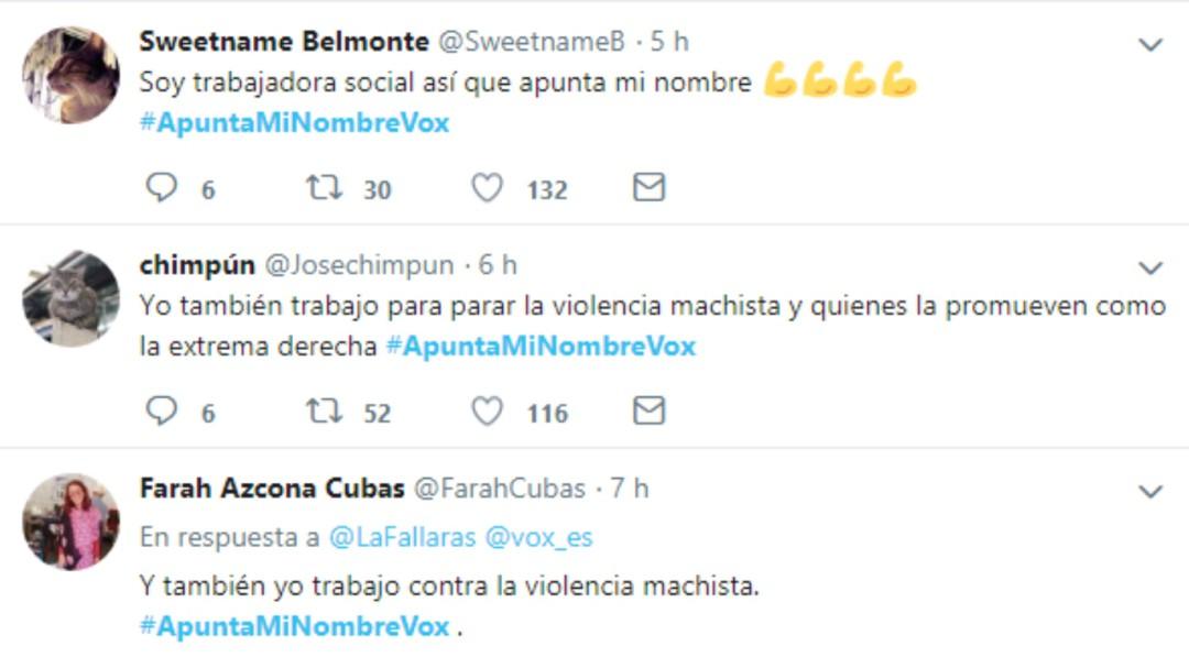 #ApuntaMiNombreVox: las redes sociales contratacan a la petición de identidades de Vox