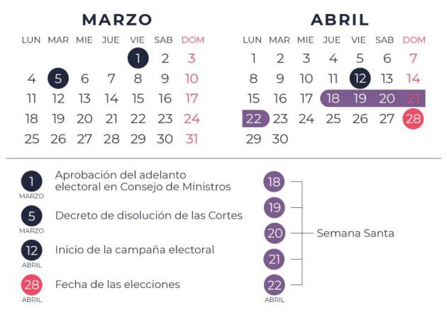 Boe Calendario.Elecciones Generales 2019 El Boe Publica La Disolucion De Las