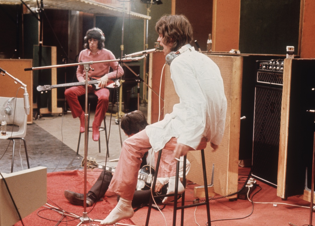 Keith Richards y Mick Jagger durante la grabación de 'Sympathy For The Devil'