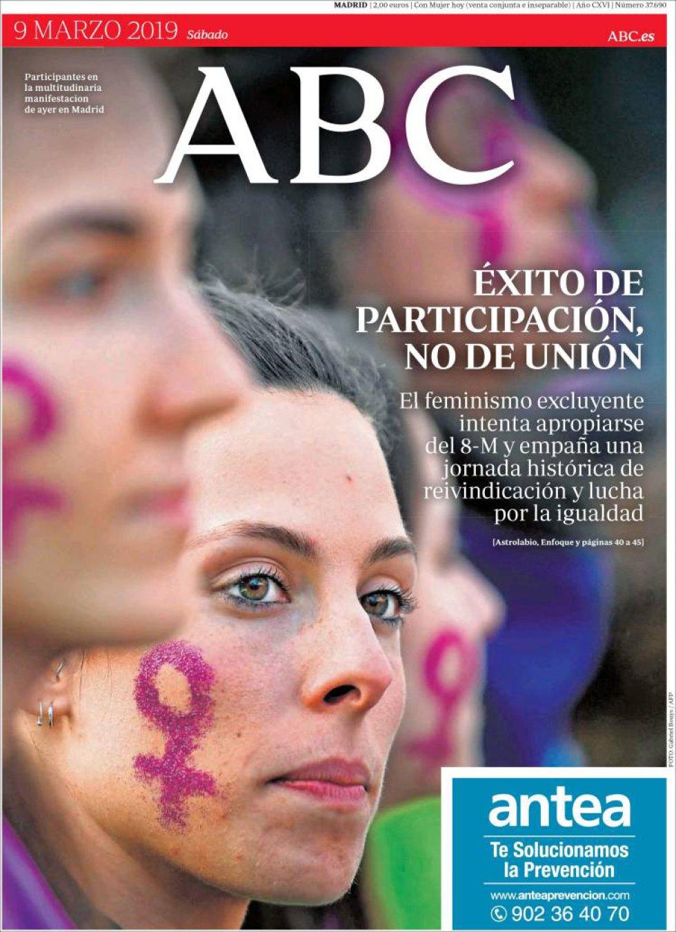 Portada de ABC el 9M