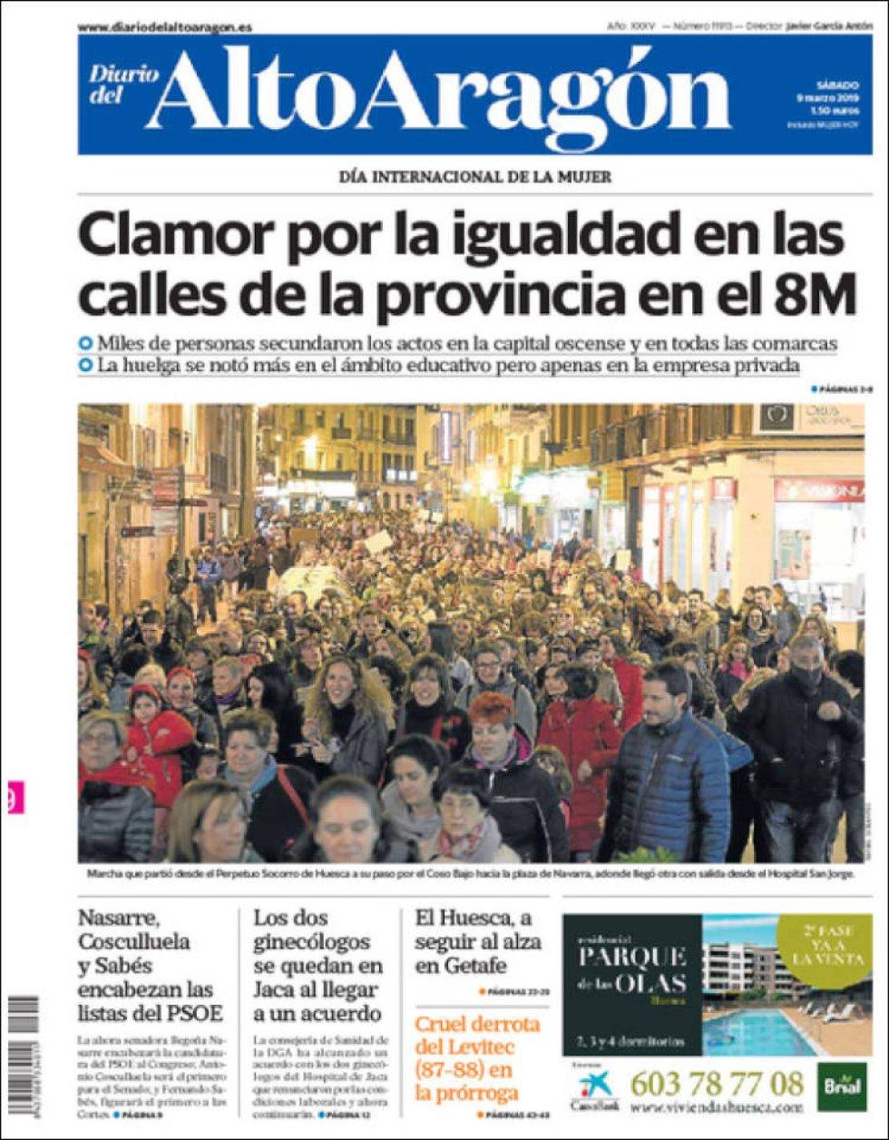 Portada de Alto Aragón el 9M