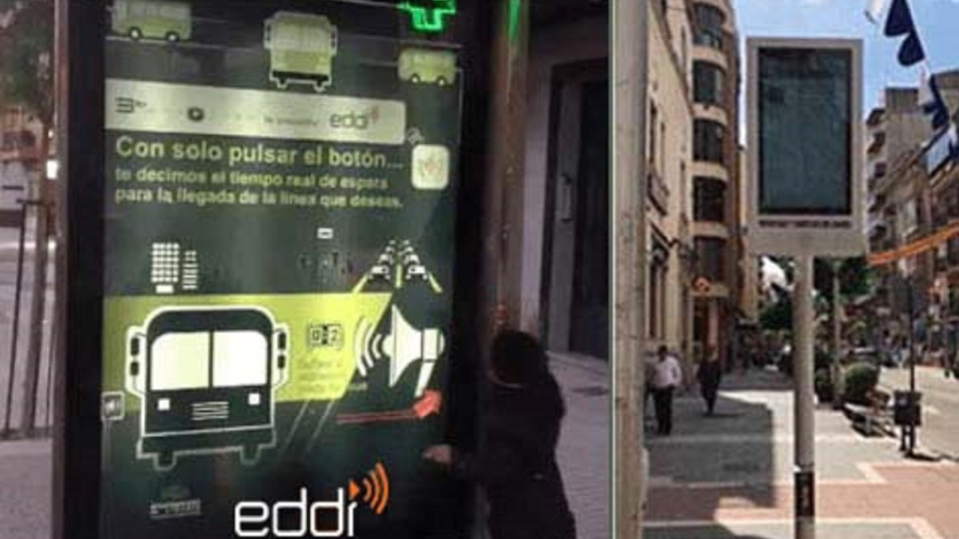 "Innovación ""made in Linares"" en paradas de bus"