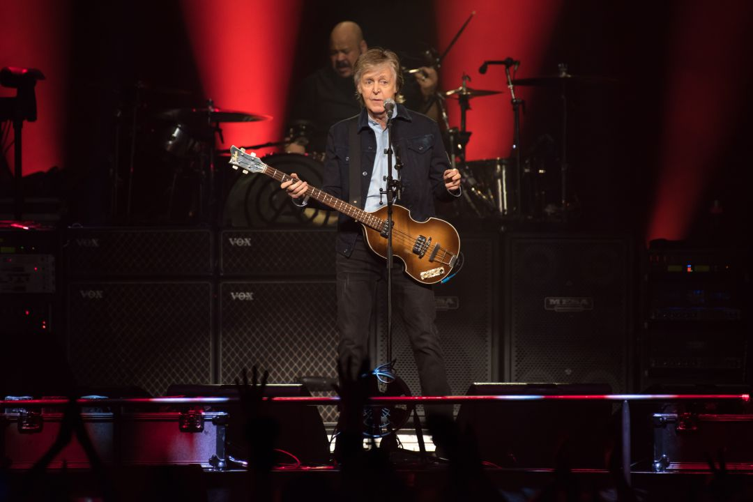Paul McCartney durante un concierto en el O2 Arena de Londres.