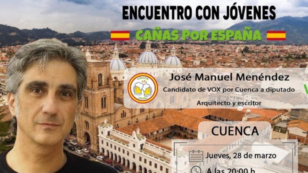 Vox convoca un acto en Cuenca capital con una imagen de Cuenca, en Ecuador