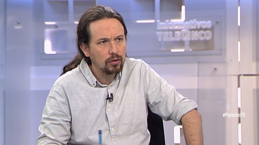 """Pablo Iglesias visita Telecinco: """"No me gusta que el dueño de esta casa haya participado en orgías con menores"""""""