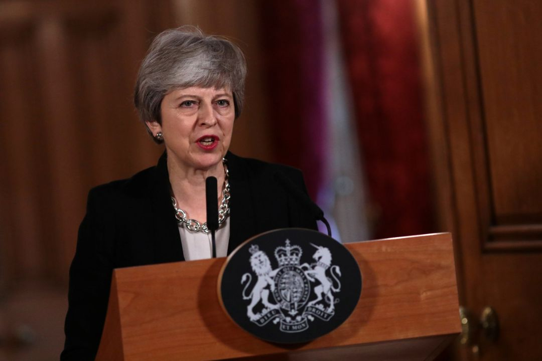Theresa May durante su intervención este martes