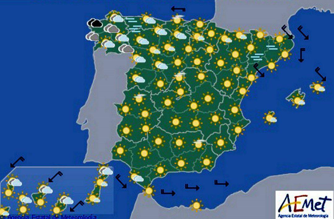 Mapa Del Tiempo España Fin De Semana.Tiempo Semana Santa Subida De Las Temperaturas En Toda