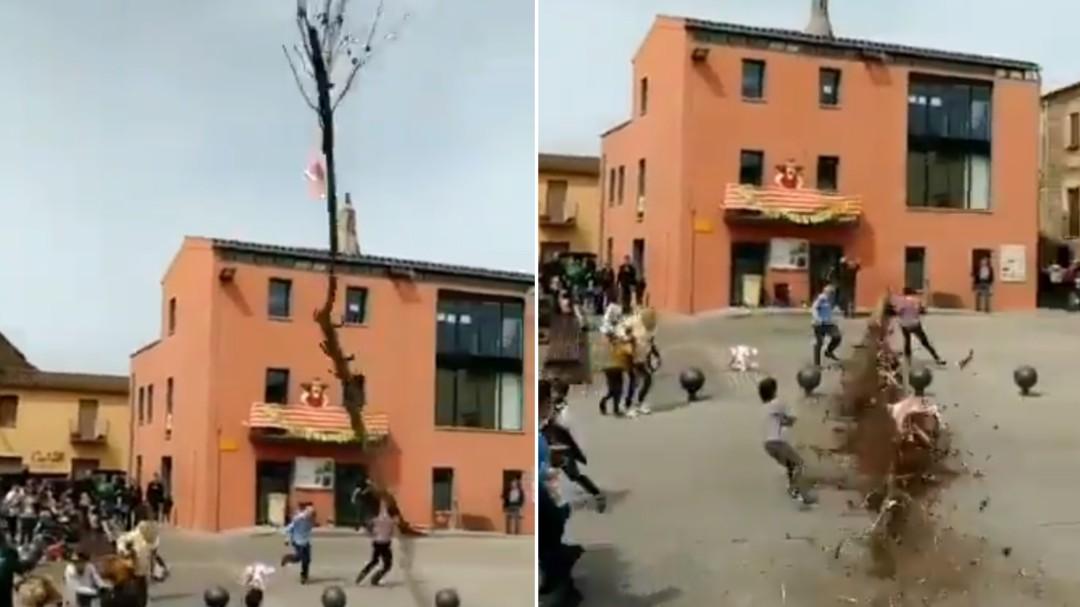 La espectacular tradición de un pueblo de Girona que casi acaba en tragedia