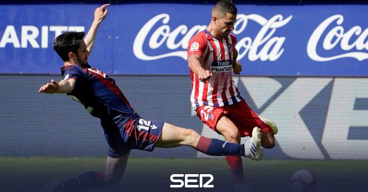 El Atlético se lleva el máximo botín en Ipurúa con un gol de Lemar en los últimos minutos de partido