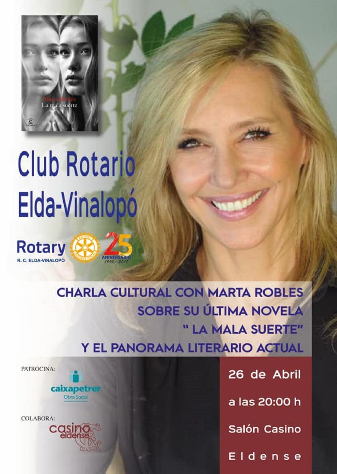 """Presentación libros Elda: Marta Robles presenta """"La mala suerte"""" en Elda"""