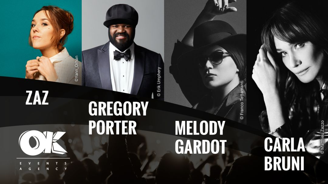 Ok Events Agency presenta los conciertos de Zaz, Gregory Porter, Melody Gardot y Carla Bruni