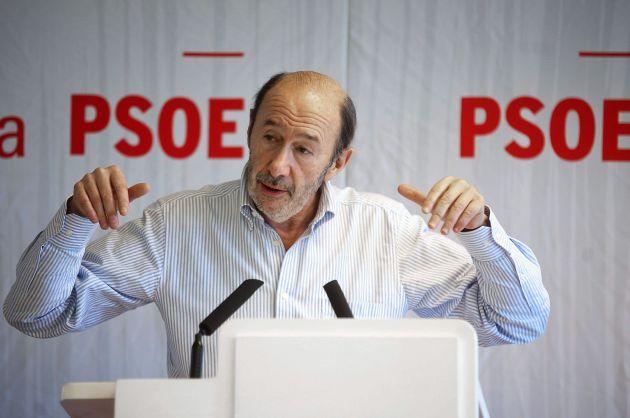 El ex secretario general del PSOE Alfredo Pérez Rubalcaba en 2015.