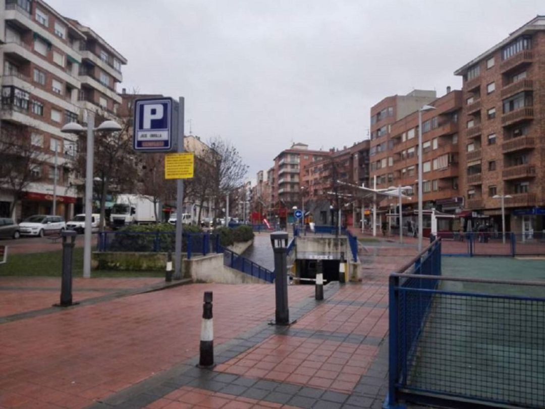 Entrada al parking José Zorrilla