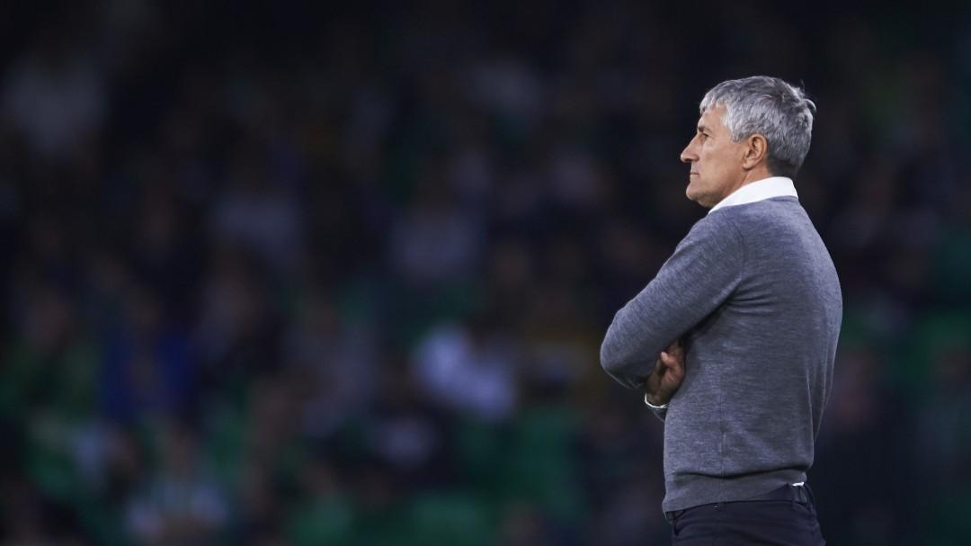 Quique Setién no continuará como entrenador del Real Betis