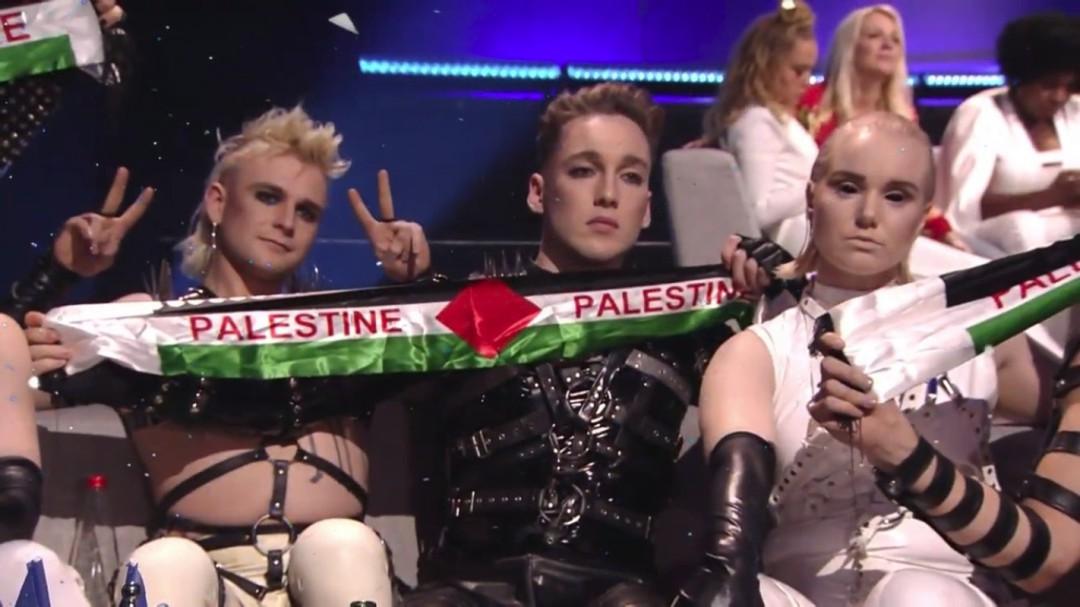 Los islandeses reivindican la causa palestina en Tel Aviv