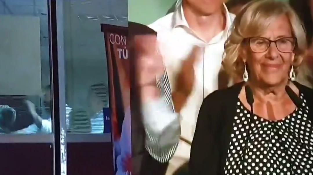 El corte de mangas del PP a Manuela Carmena durante su discurso