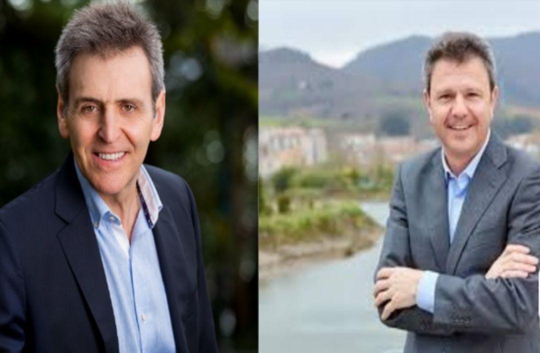 Xabier Iridoy (PNV) y José Antonio Santano (PSE) candidatos a la alcaldía de Irun