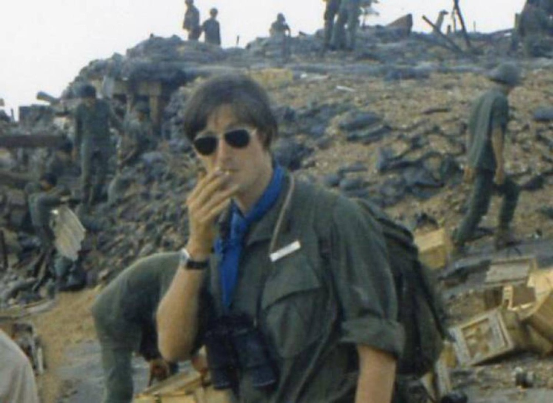 Max Hastings, durante la guerra del Vietnam.