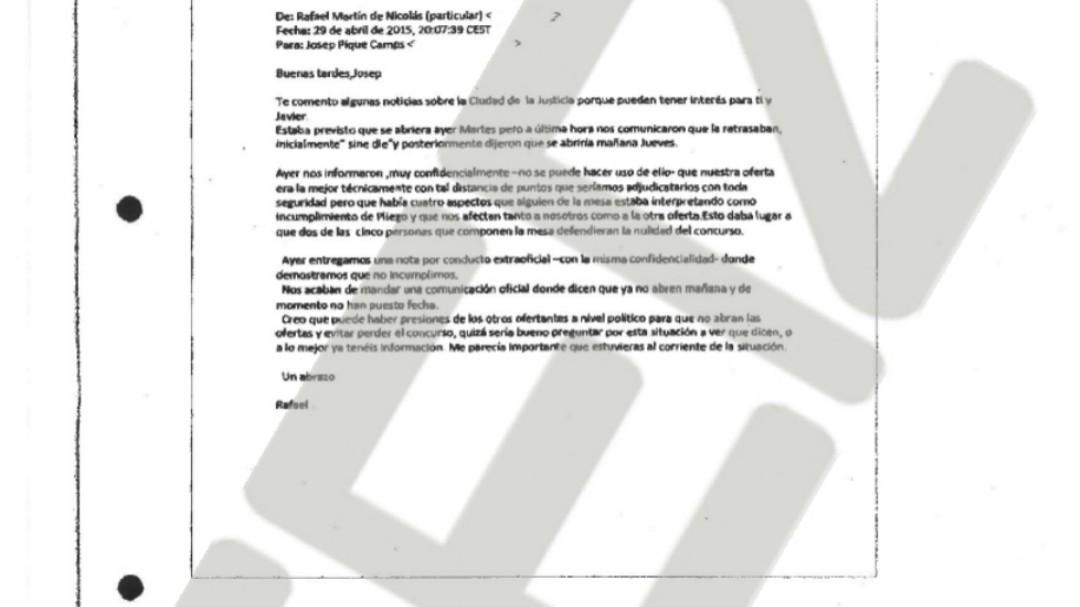 La UCO implica al exministro Josep Piqué en el supuesto amaño de un contrato multimillonario en la Ciudad de la Justicia de Madrid