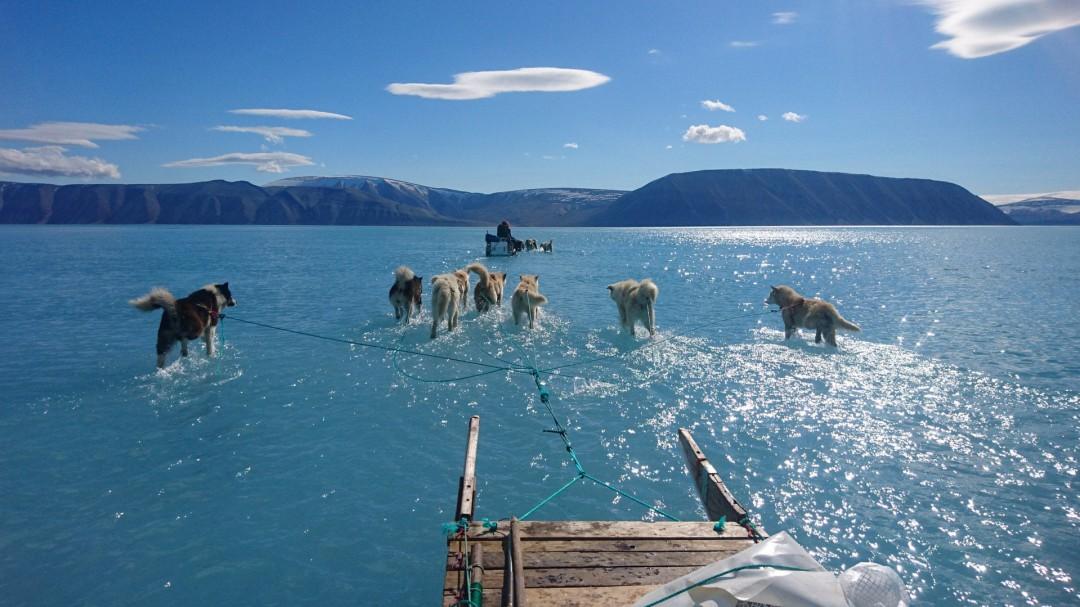 La foto que deja al descubierto la realidad del deshielo marino en Groenlandia
