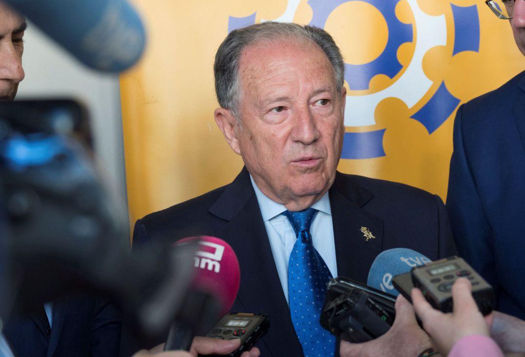 Félix Sanz, durante una visita a Cuenca en mayo de 2018