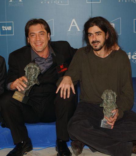 Javier Bardem y Fernando León de Aranoa en los reivindicativos Goya de 2013