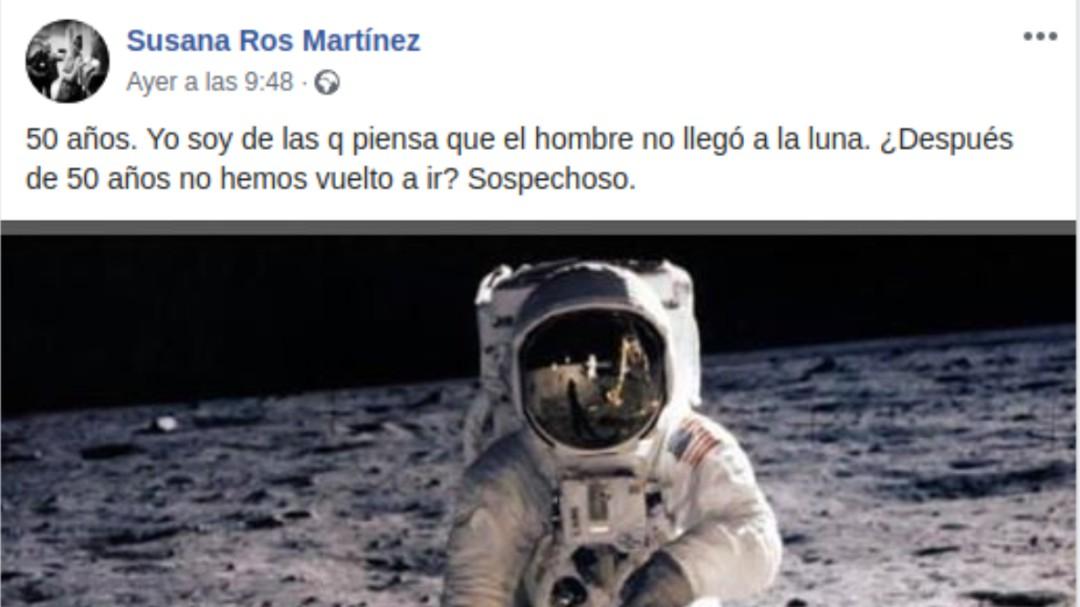 La diputada socialista Susana Ros piensa que el hombre no llegó a la Luna