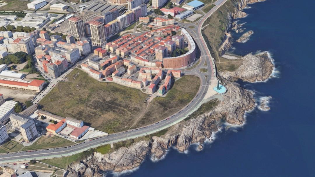 Fallece un hombre tras caer en las rocas frente al Millennium de A Coruña
