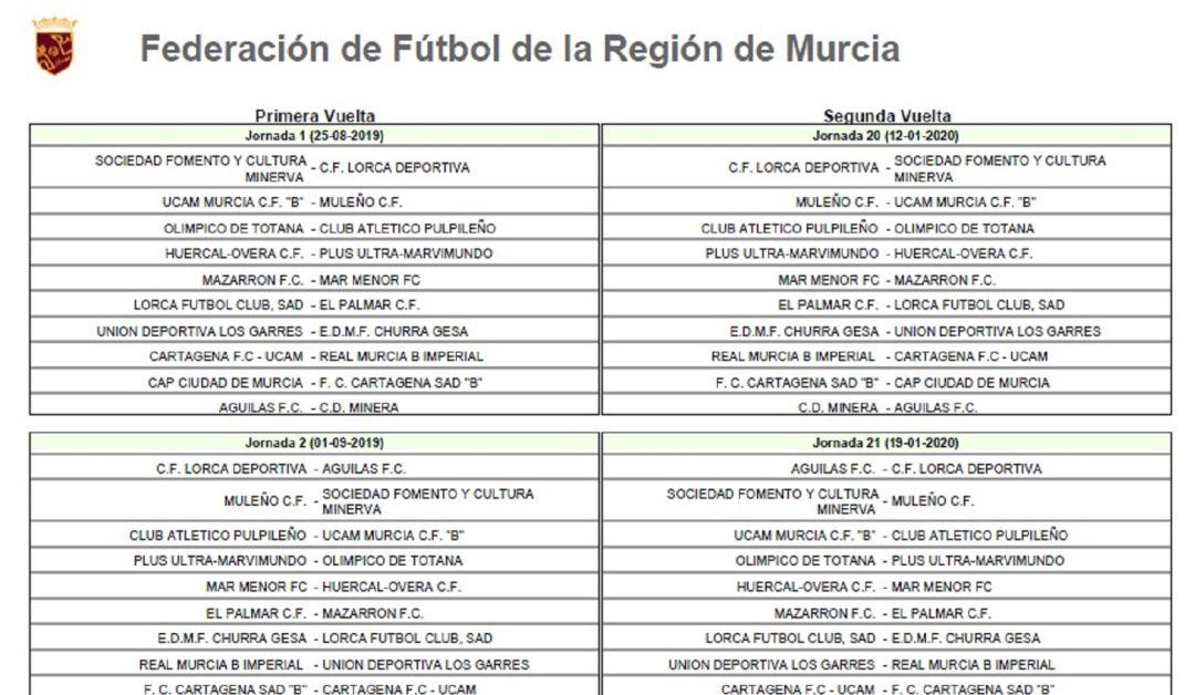 Calendario Tercera Division.El Grupo Murciano De Tercera Division Ya Tiene Calendario Para La