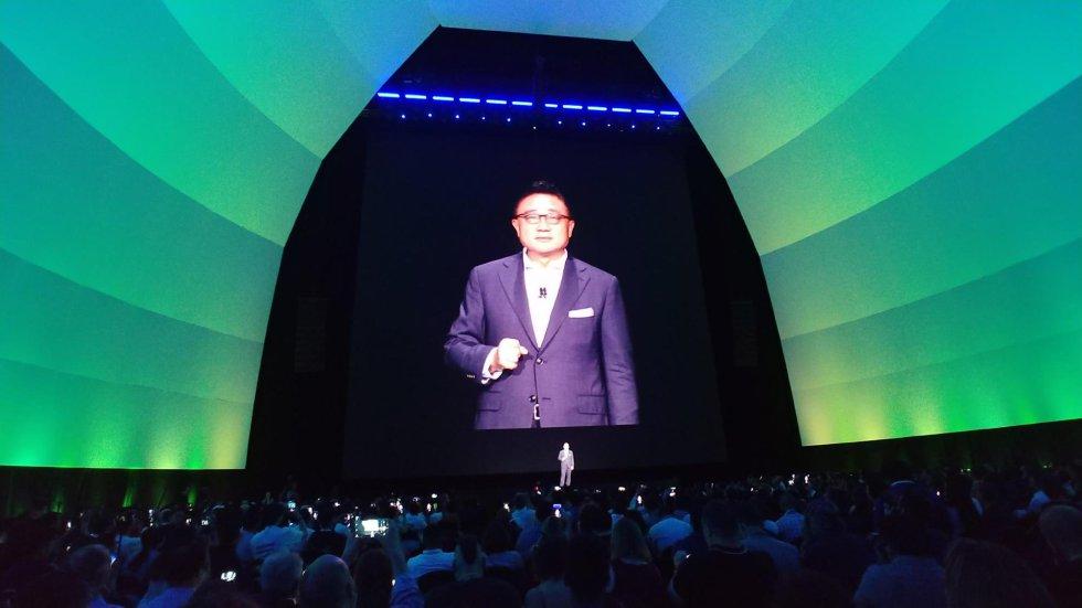 Dj Koh, presidente de Samsung, durante la presentación en Nueva York del Galaxy Note 10+
