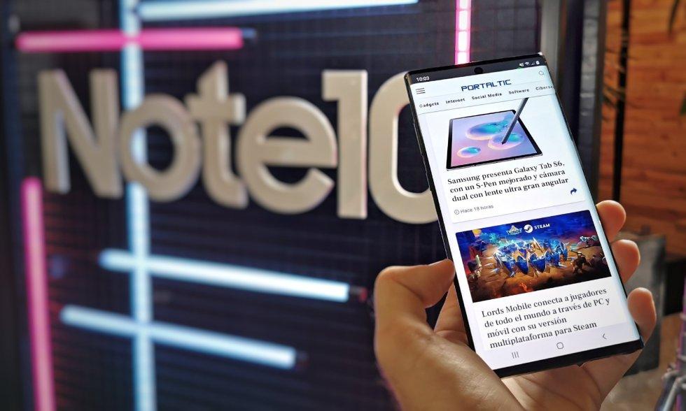Samsung convierte su lápiz óptico en una 'varita mágica' con el control con gestos de su nuevo Galaxy Note 10+