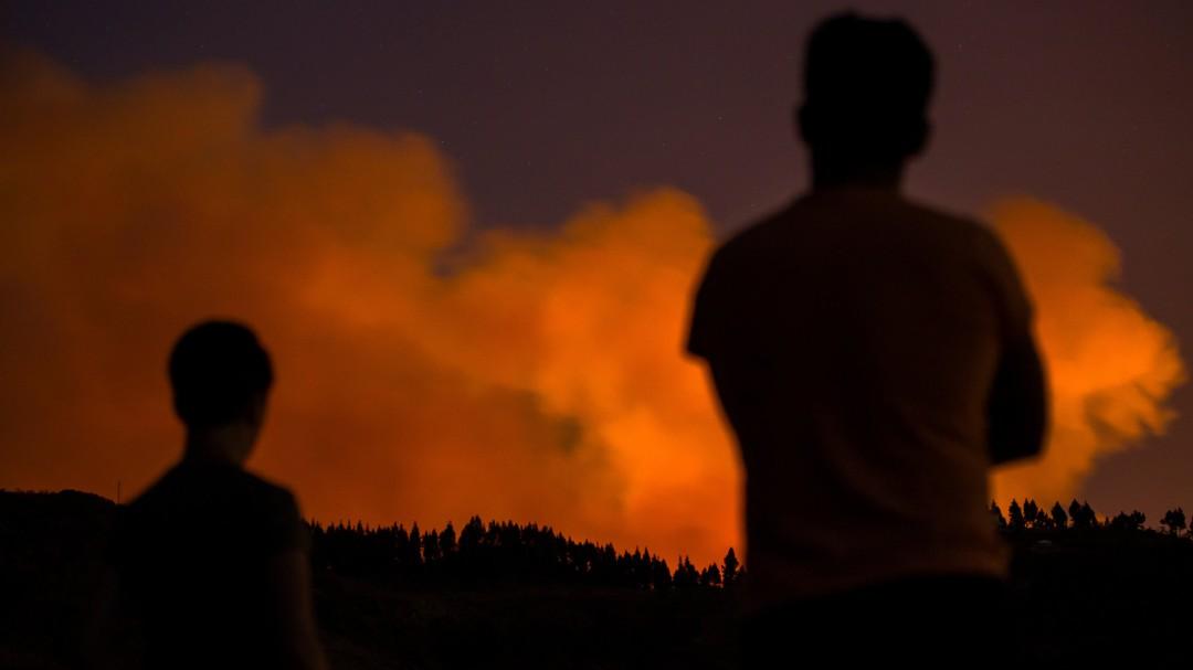 El incendio en Gran Canaria llega al Parque Natural de Tamadaba y obliga a más evacuaciones