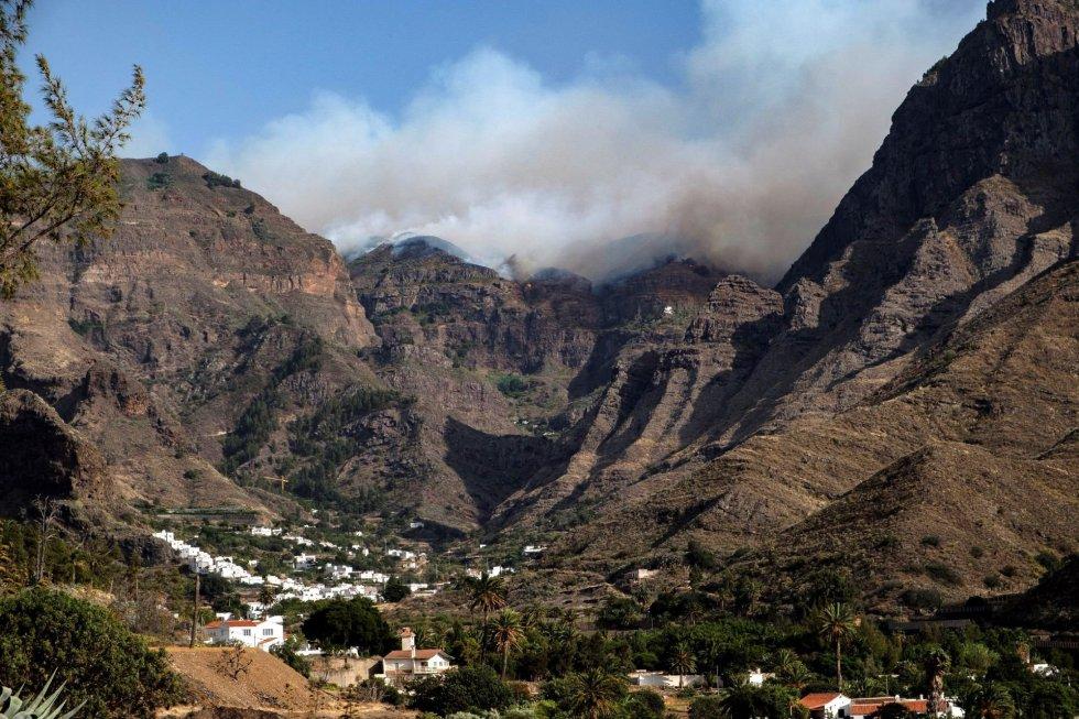 El incendio de Gran Canaria, en imágenes