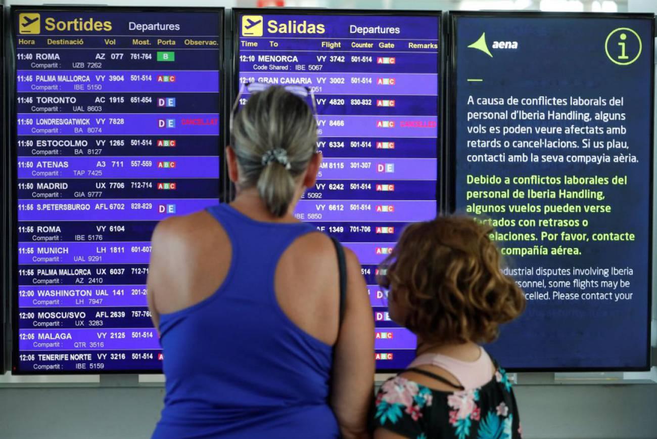 Las huelgas en las compañías aéreas protagonizan el final del verano