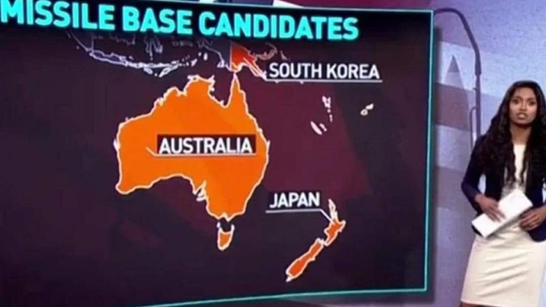 Error garrafal en la televisión rusa: sitúa Japón donde debería ir Nueva Zelanda