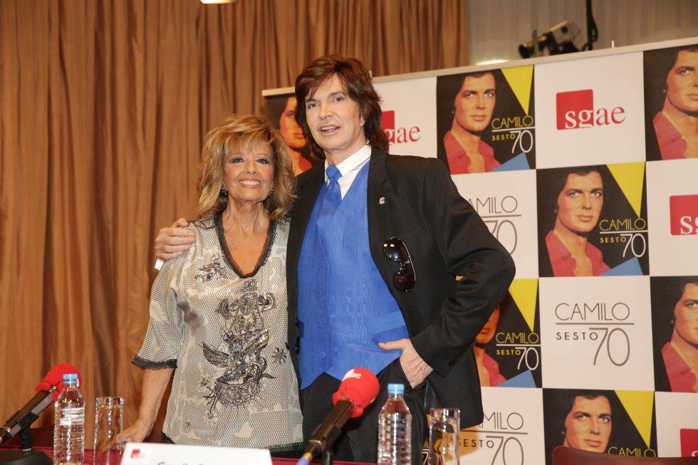 Camilo Sesto con María Teresa Campos
