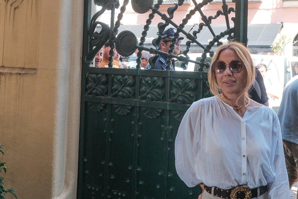 Marta Sánchez despide a Camilo Sesto en la sede de la SGAE