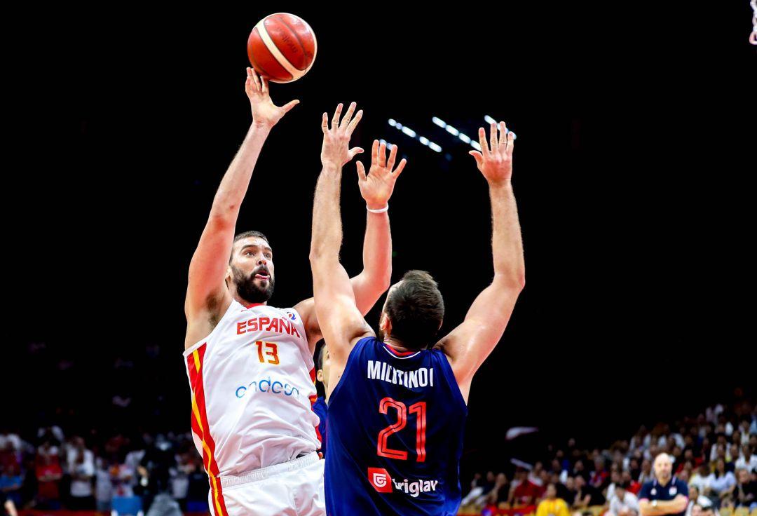 Marc Gasol, en el partido de España ante Serbia