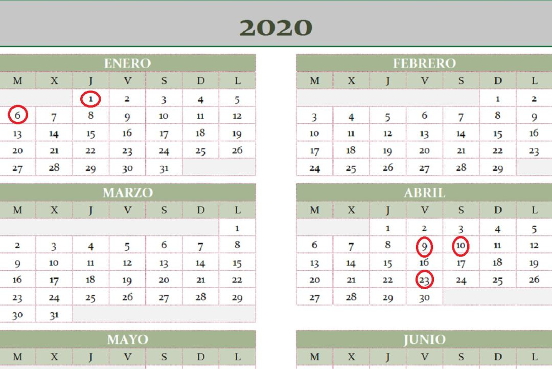 Calendario Laboral 2020.Consulta El Calendario Laboral De 2020 Ser Avila Cadena Ser