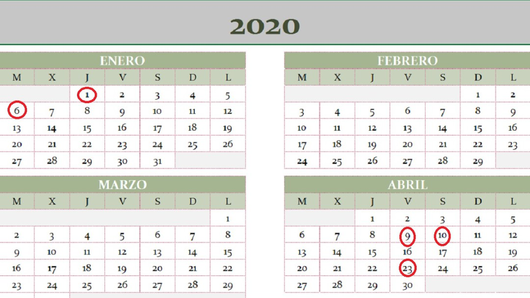 Calendario Laboral 2020 Madrid Capital.Calendario Laboral Cadena Ser