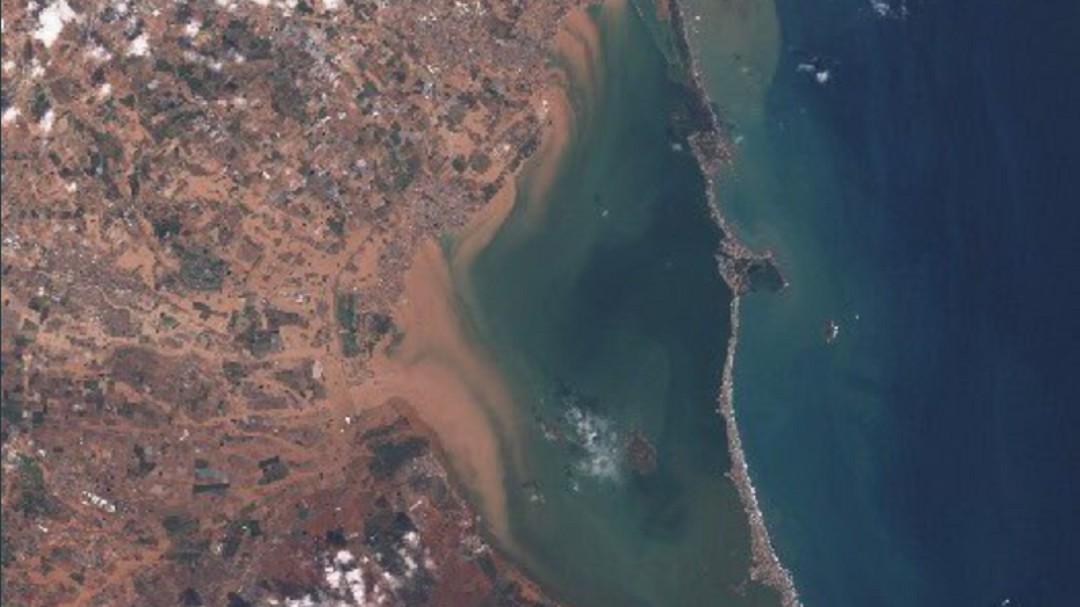 Así se ve la devastación del Mar Menor a vista de satélite