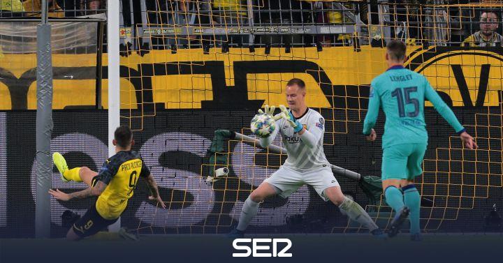 Ter Stegen salva al Barcelona en Dortmund en el día del regreso de Messi