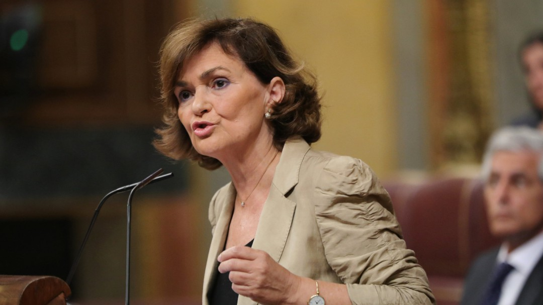 """Carmen Calvo: """"Los ciudadanos votan gobiernos, no votan coaliciones"""""""