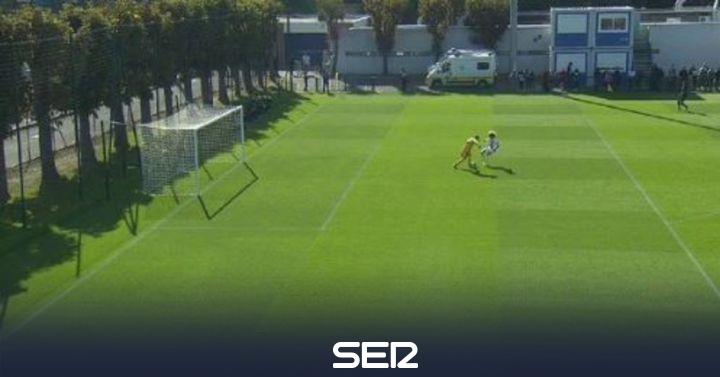 La 'pifia' del portero del Real Madrid juvenil que regaló un gol al ex del Barça Xavi Simons en la Youth League